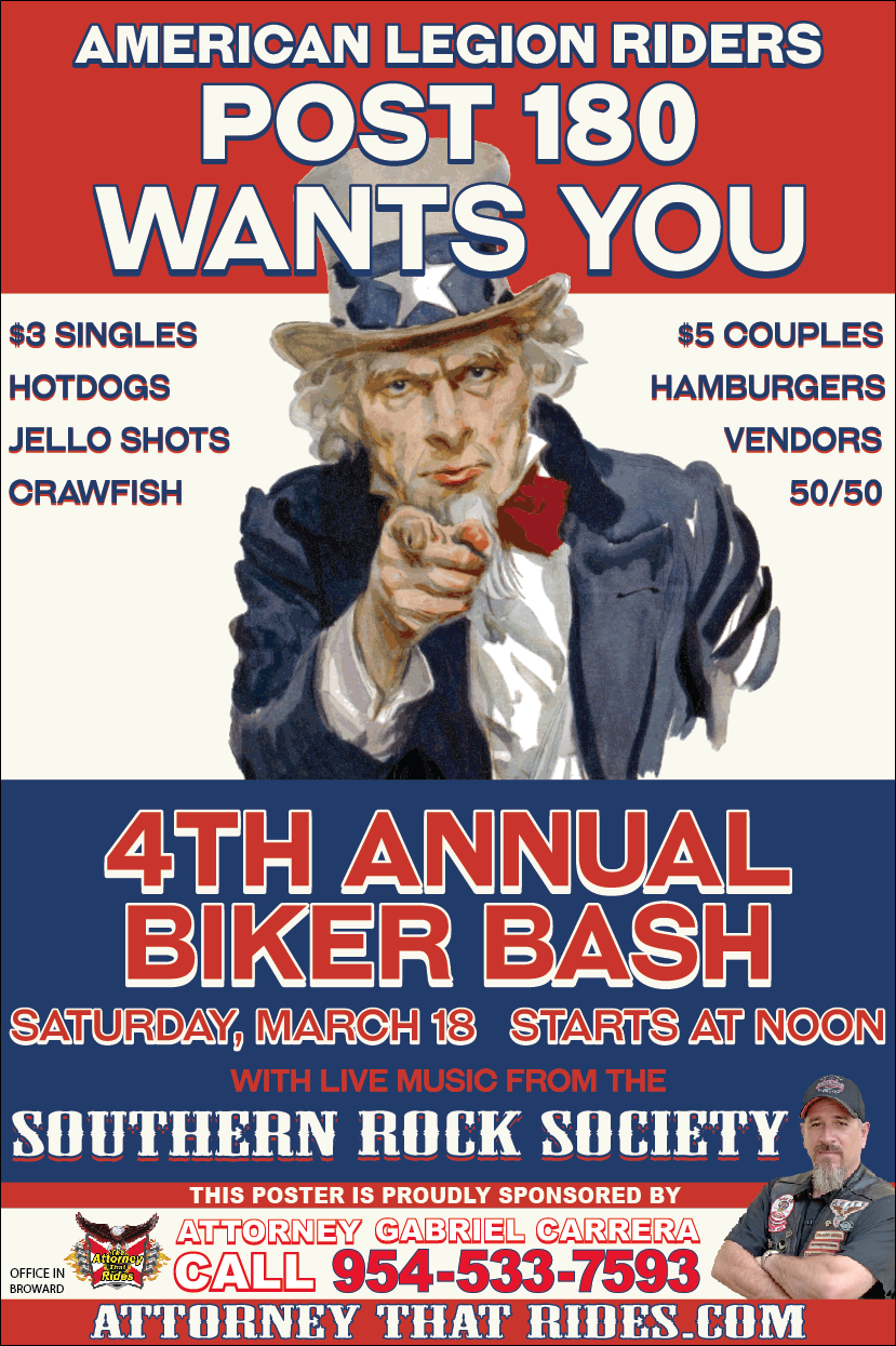 American legion post 180 biker bash