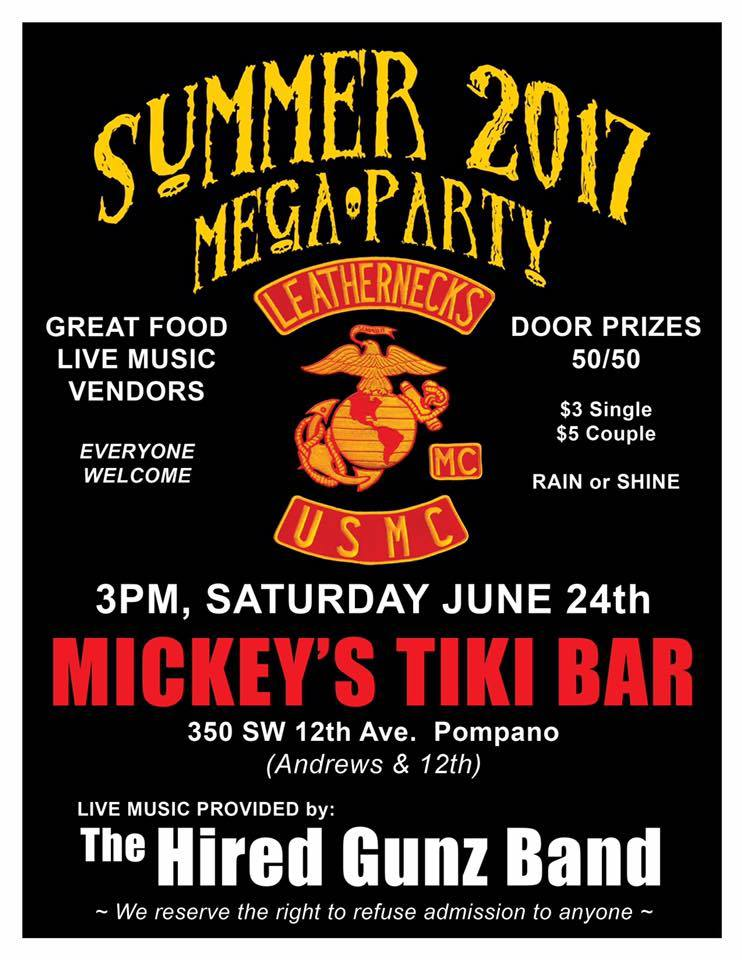 LEATHERNECKS MC 2017 SUMMER MEGA PARTY