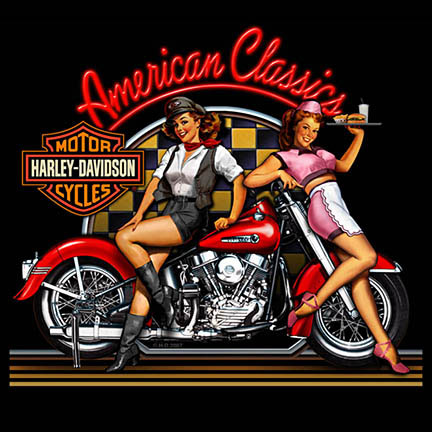Classic Motorcycle Pin Up 3