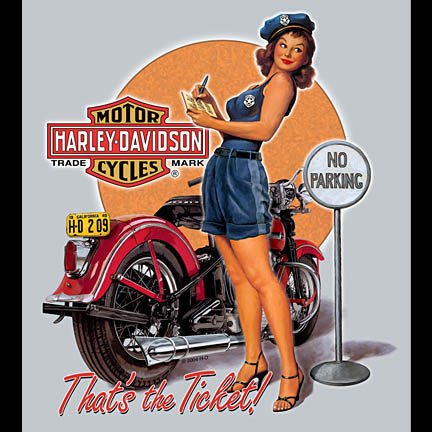 Classic Motorcycle Pin Up 4