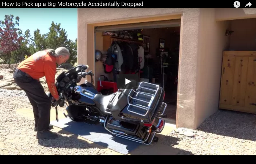 How To Pick Up A Motorcycle Accidentally Dropped