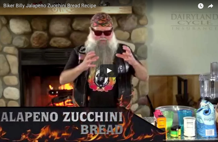 Biker Billy Jalapeno Zucchini Bread Recipe