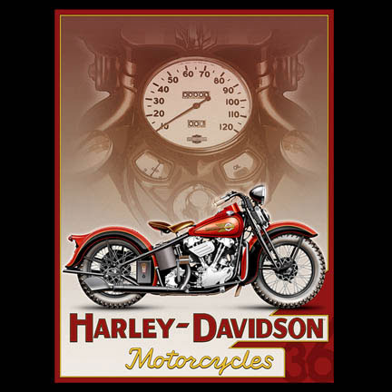 Classic Motorcycle Pin Up 5