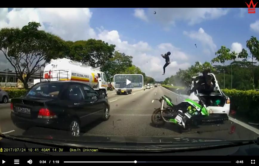 biker thrown