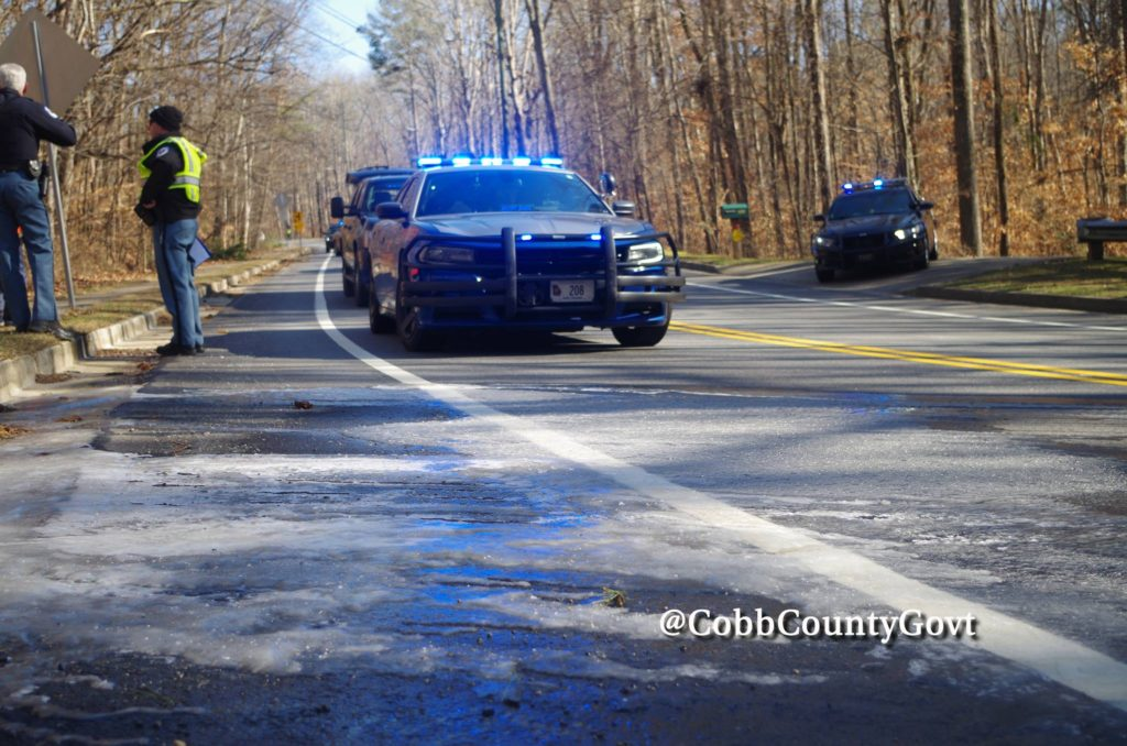 3 Cobb Officers Thrown From Motorcycles Due To Icy Roads